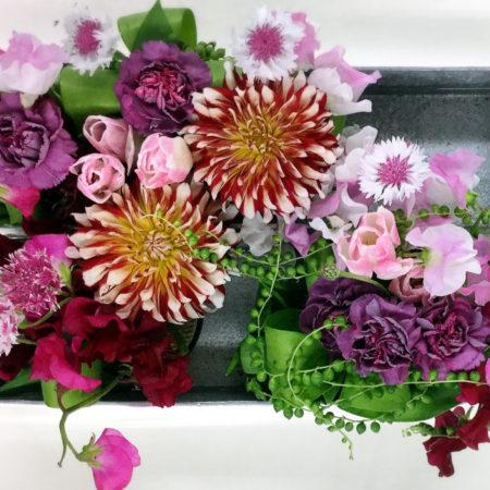 心の拡散と統合を行うコラージュを取り入れたお花のレッスン